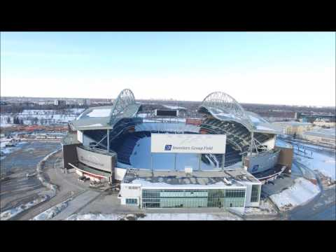 Investors Group Field fly over experiment