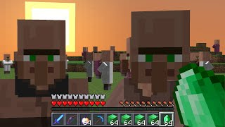 Minecraft UHC but VILLAGERS are OP...