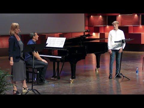 Singing Mozart and talking at ICVT 2017 | treble Aksel Rykkvin (14y), Marianne Lewis, Sean Lewis