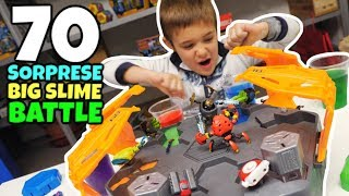 70 SORPRESE READY 2 ROBOT nella Big SLIME Battle Arena
