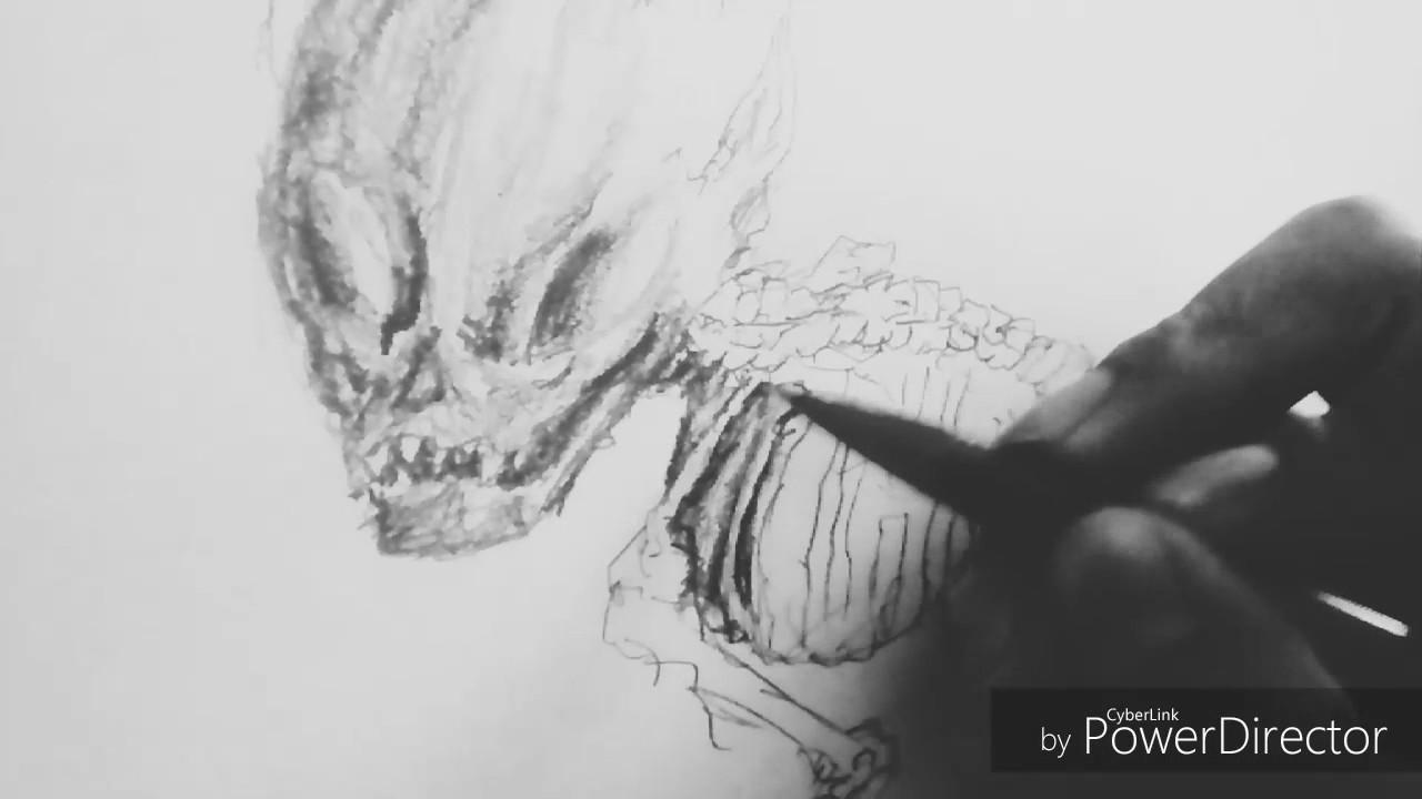 Dibujo Monstruo A Lapiz Hb 2b 8b Hd Youtube