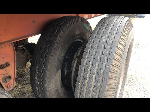 Changing A Truck Tire 10.00-20