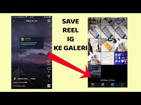 Cara Download video Reels Instagram simpan ke galeri iPhone dan android