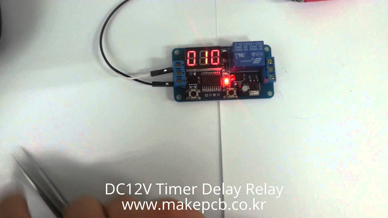 DC12V Digital Display Time Delay Relay Timing Timer 20A Cycling Module Multimode