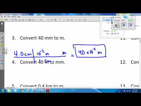 SI Prefix Conversion and Dimensional Analysis