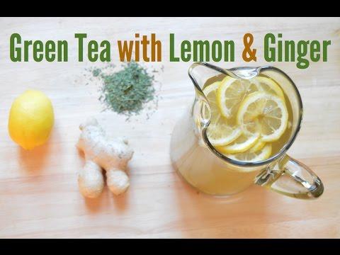 Iced Organic Green Tea with Lemon & Ginger
