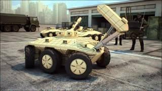 Боевой, телеуправляемый, военный робот, для уличного боя.