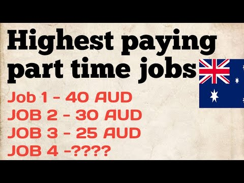 HIGHEST PAYING PART TIME JOBS IN AUSTRALIA FOR INTERNATIONAL STUDENTS. Punjabi