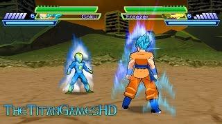 Dragon Ball Z Shin Budokai 2 Mods - Goku Ssj God Blue Vs Frost DBS