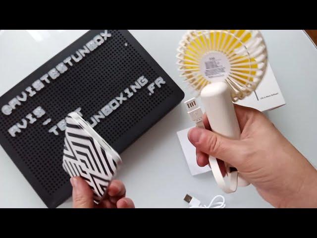 F20 Hand mini Fan - UNBOXING - Mini ventilateur de poche rechargeable