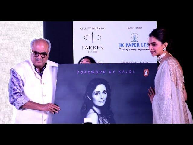 Deepika Padukone releases biography of Sridevi at Times ...