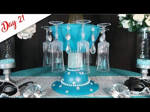 Tiffany Blue Champagne Chiller And Flute Holder