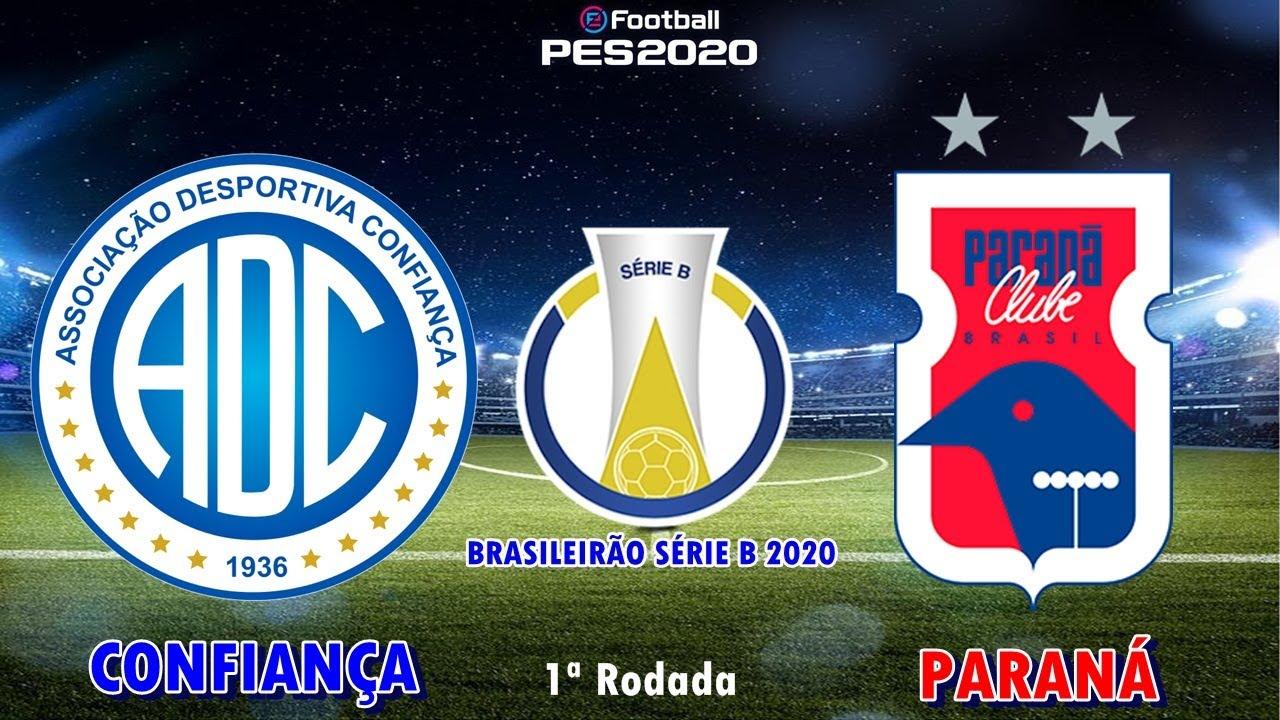 PES 2020 - Confiança x Paraná | Brasileirão Série B 2020 | Gameplay. PS4