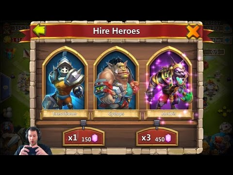 Rolling 88,000 Gems For Anubis Great Session + Uncover The Treasure Castle Clash