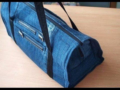 0210f837a907 Сумка из джинсов своими руками точнее из старых джинсов - YouTube