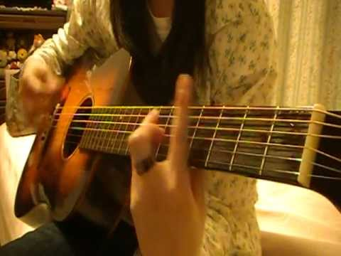 YUI Cloudy cover 弾き語り