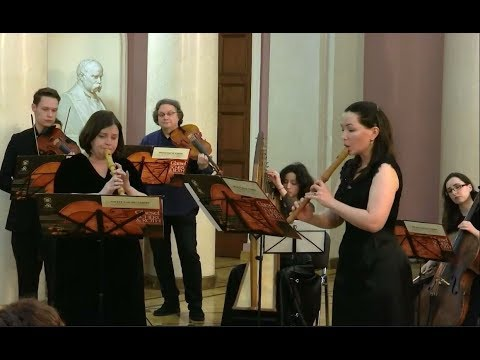 Telemann and Handel.  Early music evenings at  Moscow State University,  part I.