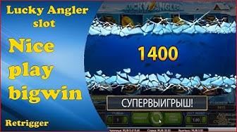 Lucky Angler slot nice play big win.