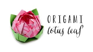 Origami Lotus Leaf ❀ Rest Flowers On Top ♥︎ Tutorial ♥︎ DIY ♥︎ Paper Kawaii