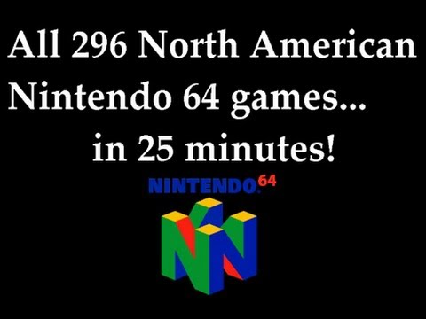 Every Nintendo 64 Game in One Video