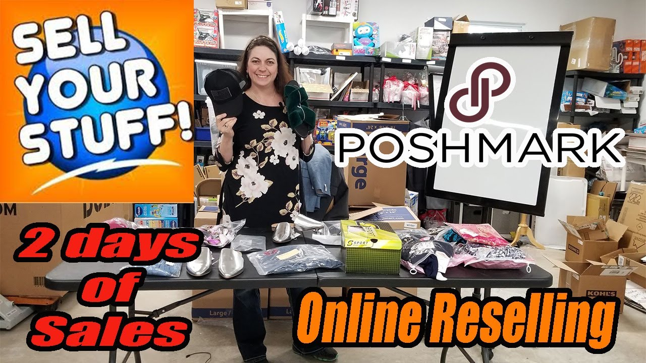 Poshmark 2 days of Sales - Sell your own stuff - Make Tons of Money - Online Reselling