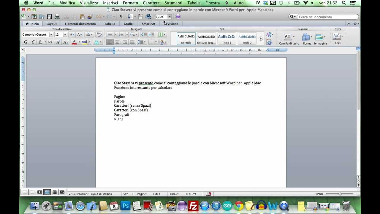 word count in microsoft word 2011 mac