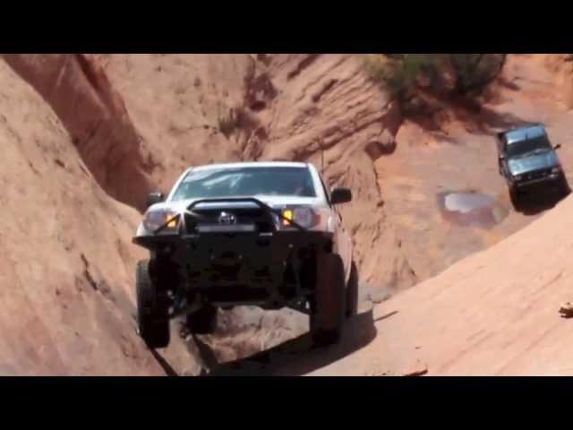 Hells Gate on Hells Revenge - Long Travel Tacoma - Moab, Utah