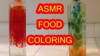 ASMR FOOD COLORING WATER BOTTLE ASMR (MOST SATISFYING ASMR)