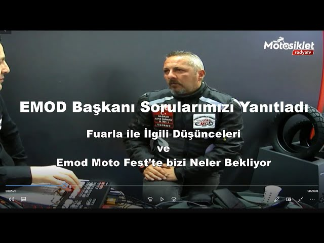 İstanbul Motosiklet Fuarı'nda EMOD Başkanı Alper Doğruöz ile yaptığımız röportajımız.