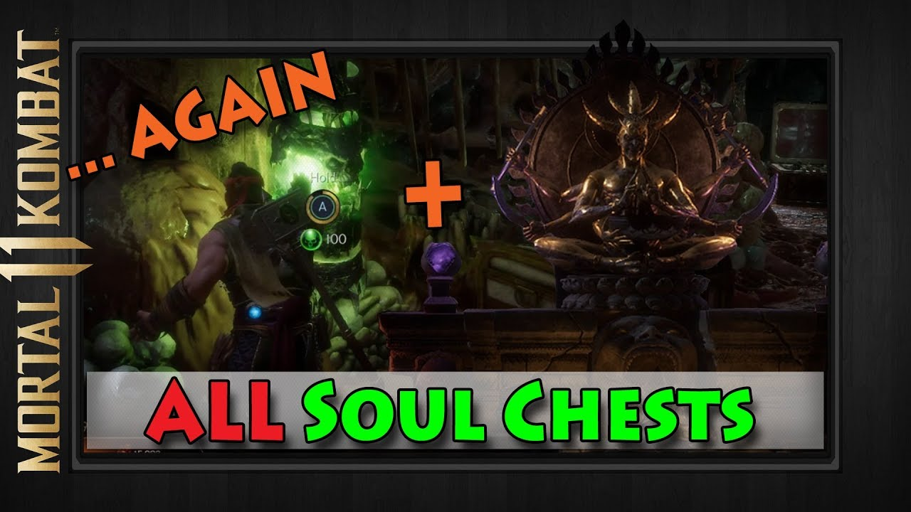 Opening Every Soul Chest The Shrine Mortal Kombat 11 The Krypt