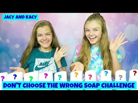 Don't Choose the Wrong Soap Slime Challenge ~ Jacy and Kacy