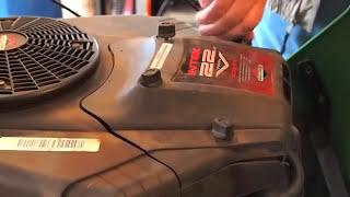John deere l120 air filter on riding  mower  inspection