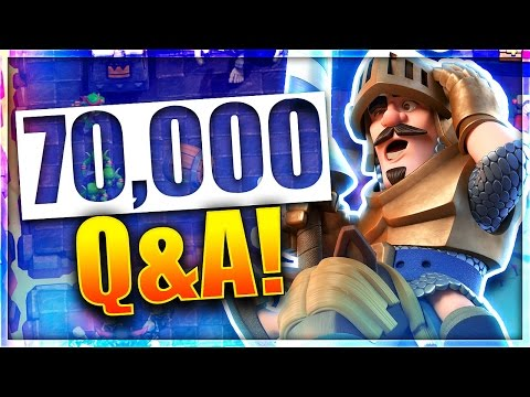 IS CLASH ROYALE DYING? FACE REVEAL & MORE! | 70,000 Subscriber Q&A