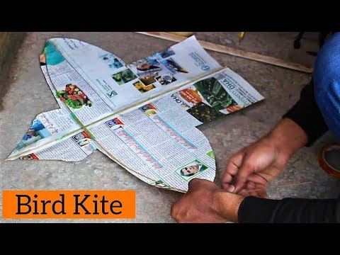 How to make a bird kite at home step by step diy Bird Kite | Flying Test