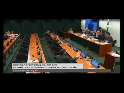 PL 4850/16 - ESTABELECE MEDIDAS CONTRA A CORRUPÇÃO - Reunião Deliberativa - 30/08/2016 - 10:05