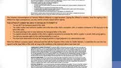 Statement of Rights and Responsibilities, Voluntary Acknowledgment of Paternity