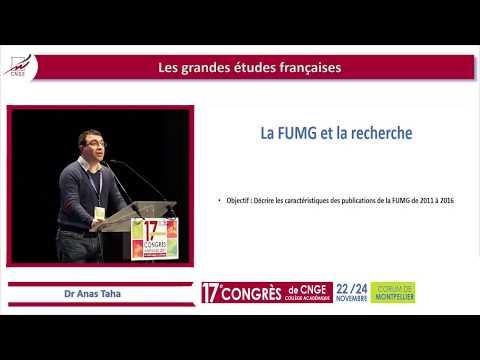 CNGE 2017 41 2011-2016. Rétrospective sur les publications de la FUMG. Dr A. Taha