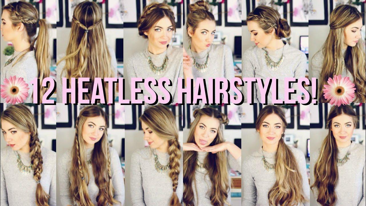 12 Heatless Hairstyles For Back To School Beautybyasha