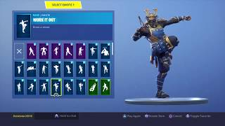 NEW! MUSHA SKIN WITH 50+ DANCE Emote! Fortnite Battle Royale