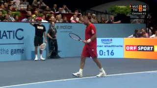Thomas Muster vs. Dominik Thiem 2:6, 3:6 - Highlights [Teil 1]