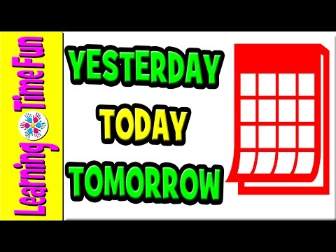 TODAY IS, YESTERDAY WAS, TOMORROW IS   Days of the Week   Learning Games   7 Days   Days of Week