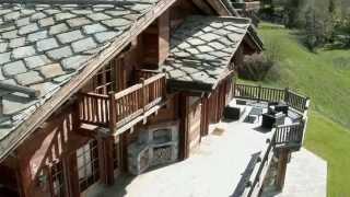 Chalet de luxe filmé avec un drone : Luxury chalet Crans-Montana