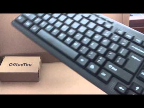 OfficeTec Wireless Keyboard And Mouse Unboxing