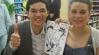 Caricaturista Netto em ação AMWAY Brasil