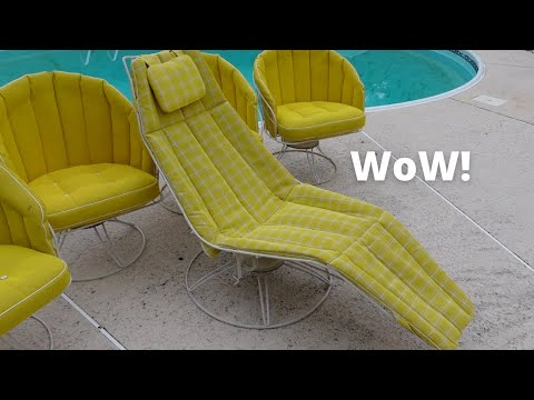 She SCORED on this Mid-Century Patio Set! Estate Sale Shopping!