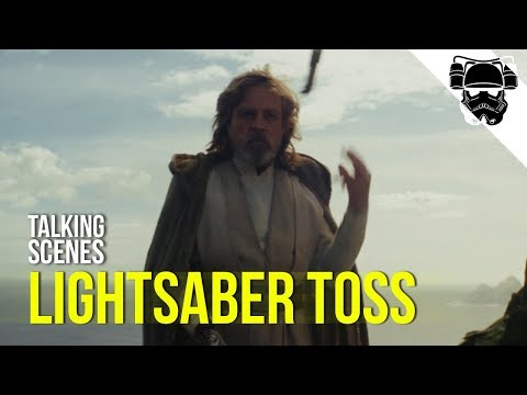 Lukes Lightsaber Toss - A comedic gag? A moment of reflection? - [TALKING SCENES]