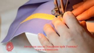 Карман в рамку на двух обтачках - уроки шитья для начинающих от Академии кроя Унимекс