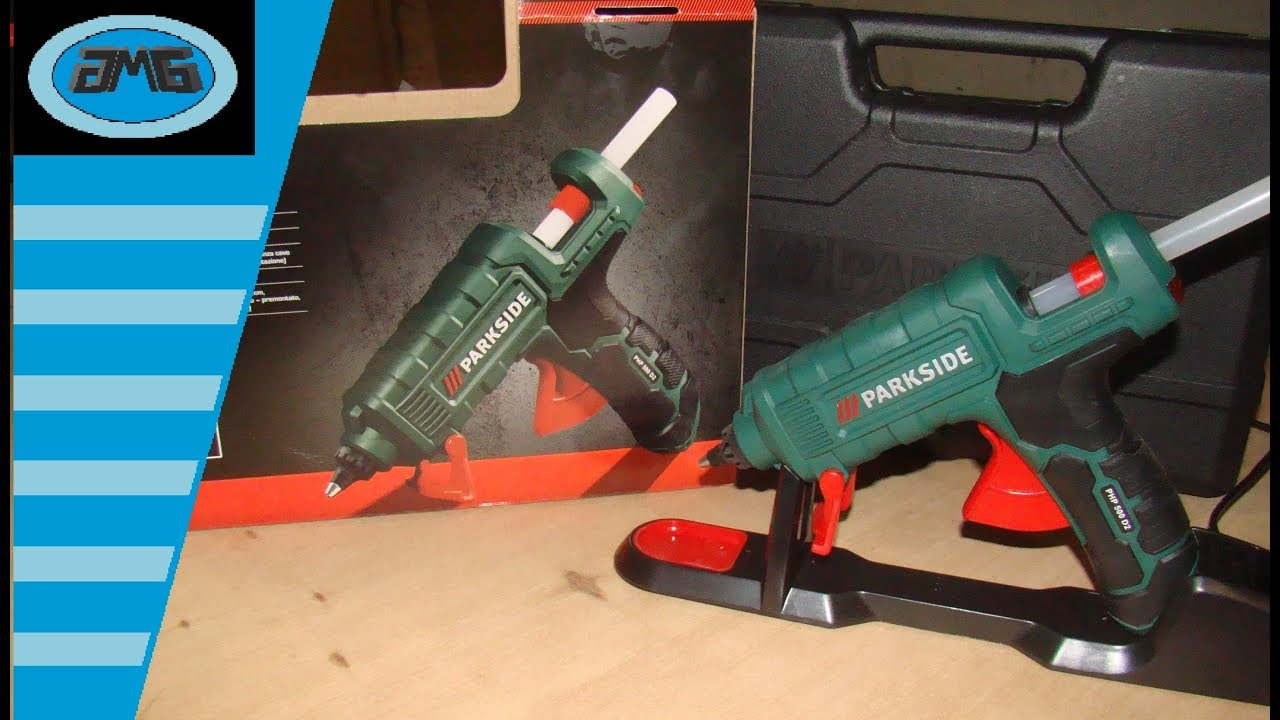 Parkside hot glue gun php 500 d2 pistola per colla a caldo for Pistola sparapunti parkside