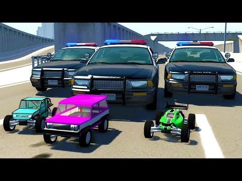 HIGH SPEED R/C CAR POLICE CHASES! - BeamNG Drive Crash Test Compilation Gameplay
