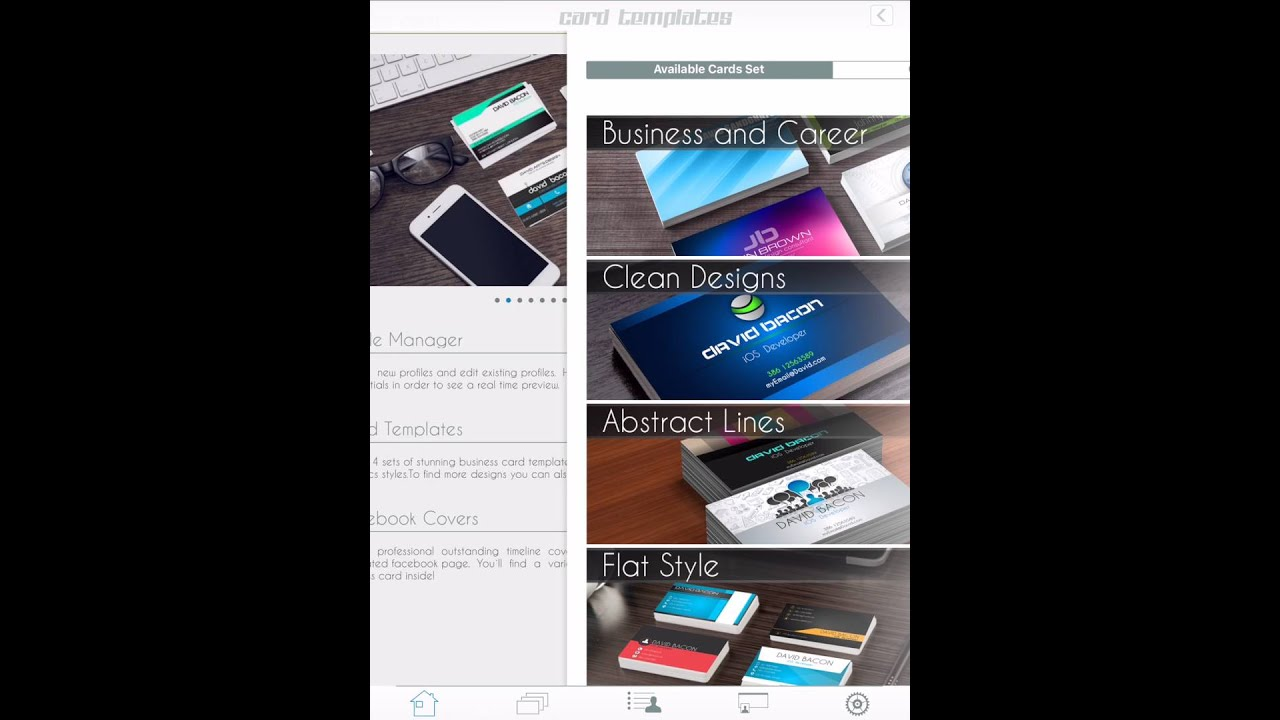 Business Card Creator tutorial for iPad dy DavidiSoft - David ...